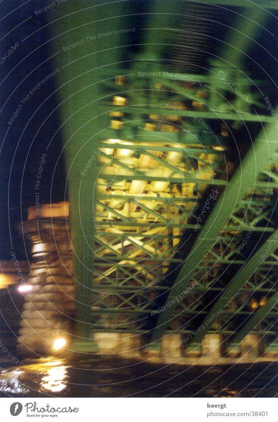 His Bridge in Paris at Night II Seine Flood Water
