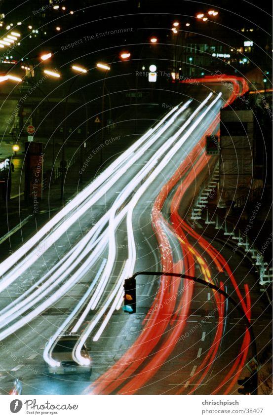 Green Street Car Transport Traffic light Mixture
