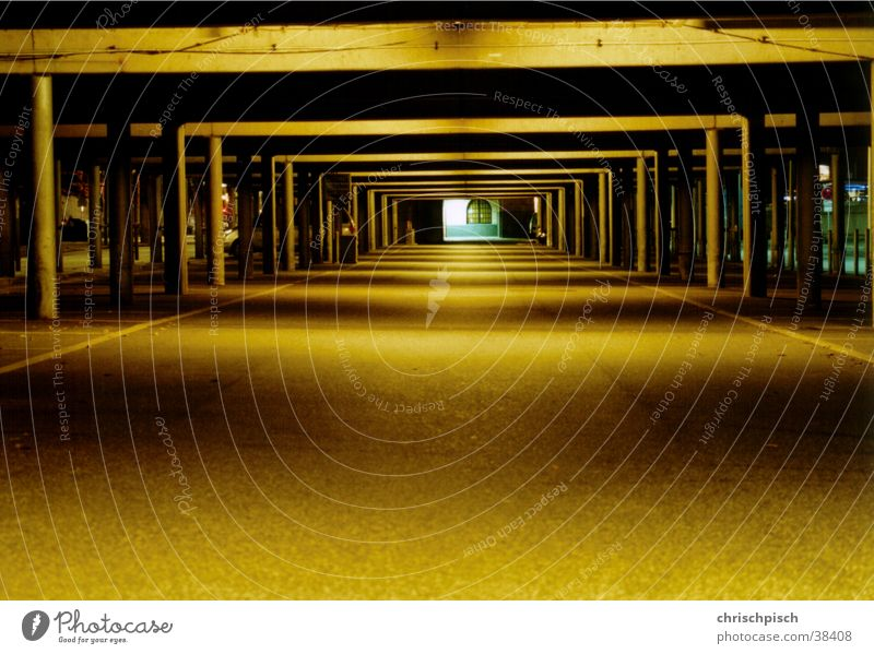 Architecture Tunnel Parking lot Parking garage