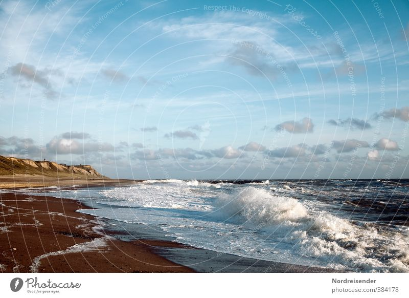 Denmark's west coast Life Harmonious Senses Relaxation Vacation & Travel Summer Summer vacation Beach Ocean Waves Landscape Sky Clouds Climate Beautiful weather