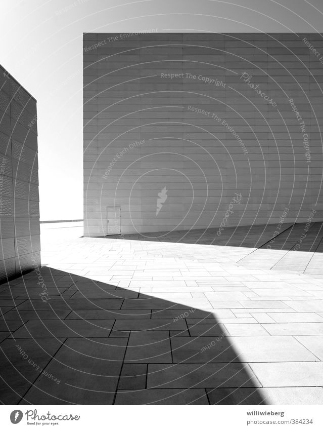 Structure in black and white Oslo Norway Europe Manmade structures Building Architecture Opera house Wall (barrier) Wall (building) Facade Terrace