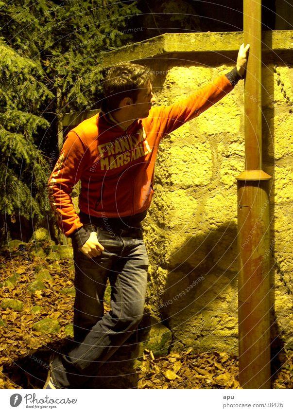 lantern Lantern Night Man Red Wall (barrier) Nature