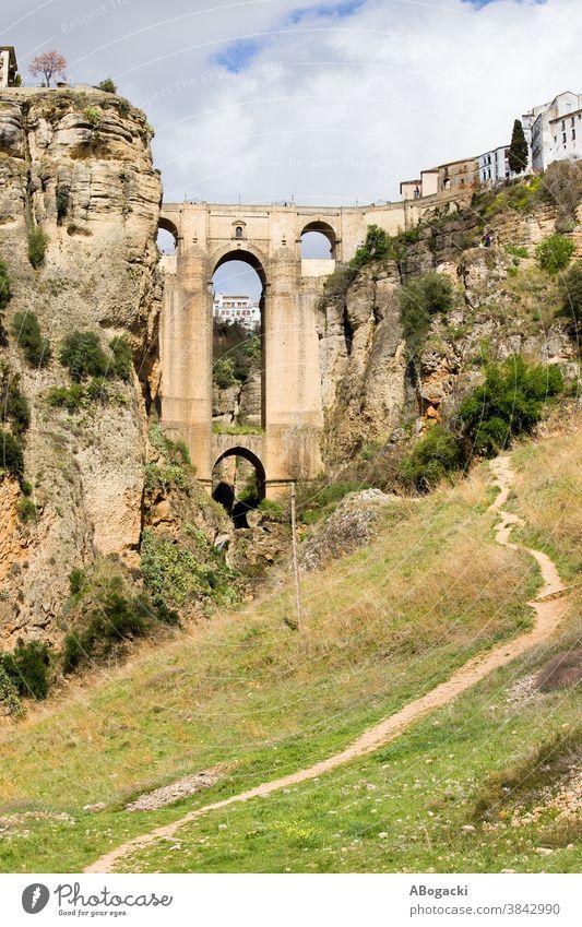 Ronda Bridge in Andalusia, Spain new bridge puente nuevo ronda stone spain landmark monument historic building structure old spanish heritage tourist attraction