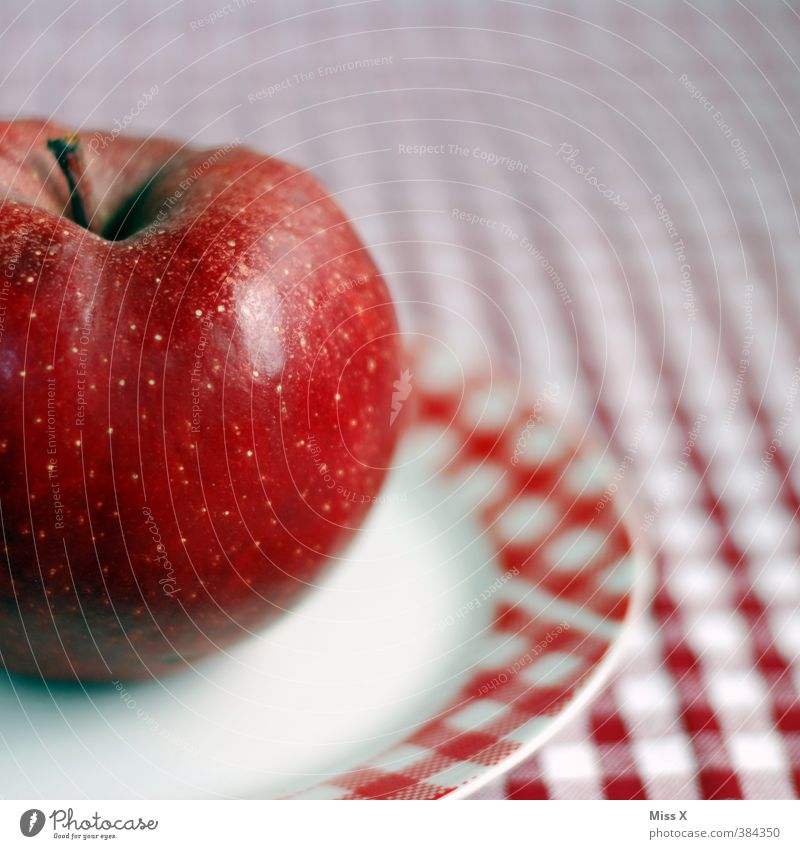 White Red Food Nutrition Sweet Apple Organic produce Plate Checkered Diet Juicy Tablecloth Vegetarian diet Reddish white