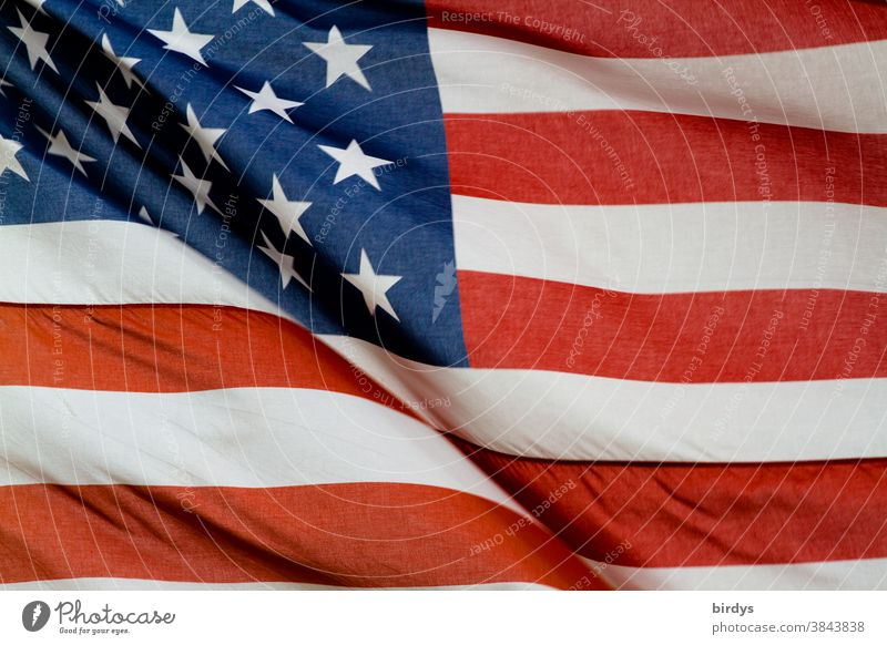 USA, American national flag, American flag format filling. Stars and stripes. Flag of the USA, America Ensign Patriotism Americas American Flag full-frame image