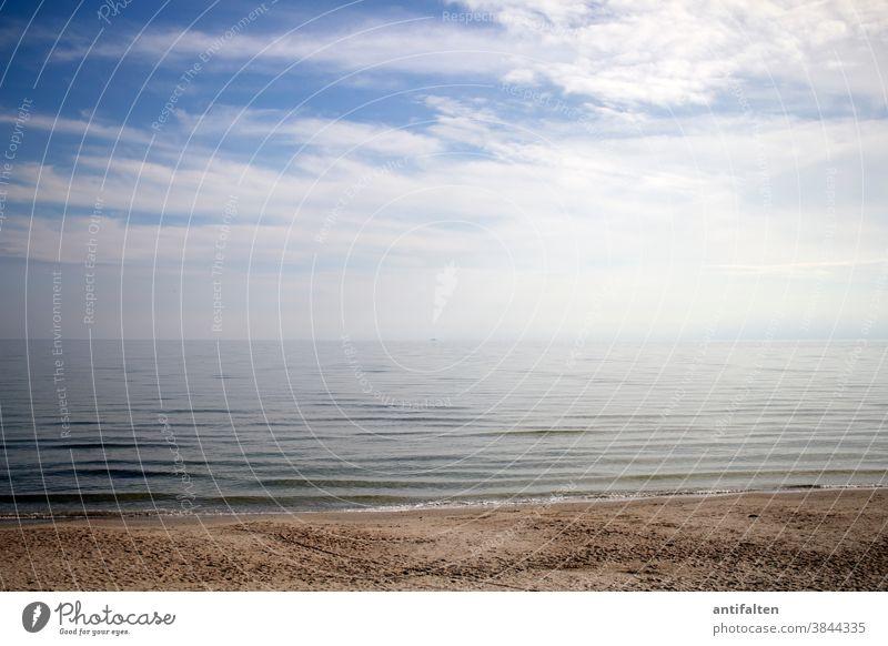 Discreet | Colour combination | Happy Birthday PC Beach Rügen Baltic Sea Ocean Sky Sand Sandy beach tranquillity Horizon Vacation & Travel coast Far-off places