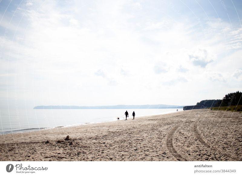 beach walk Beach Rügen Baltic Sea Ocean Sky Sand Sandy beach tranquillity Horizon Vacation & Travel coast Far-off places Mecklenburg-Western Pomerania
