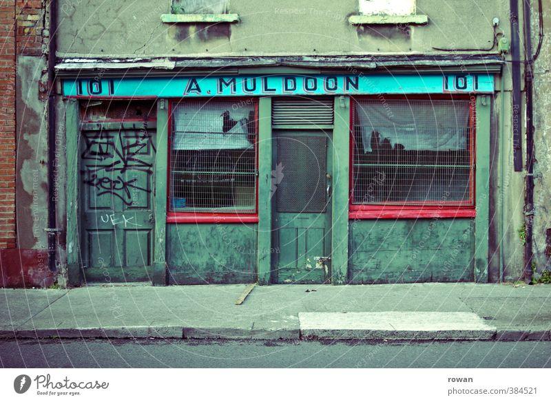 Old City Green Dark Window Business Facade Door Gloomy Broken Shopping Transience Change Retro Creepy Store premises
