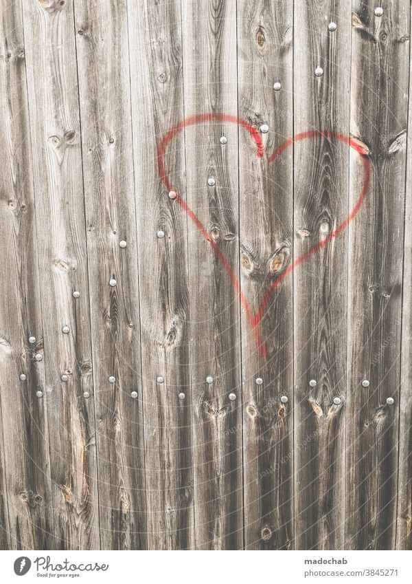 Heart on wood ❤️ Love graffiti Wood Romance Emotions Valentine's Day Symbols and metaphors Structures and shapes Background picture Decoration Trashy Card