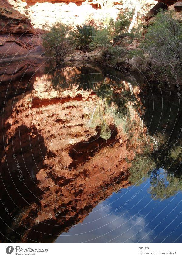 kings canyon Australia Reflection Pond Mountain Water Sky
