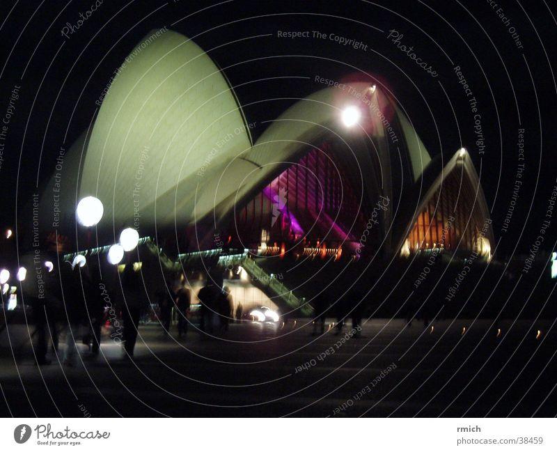 sydney opera Sydney Night Dark Architecture Opera Lighting Reflection
