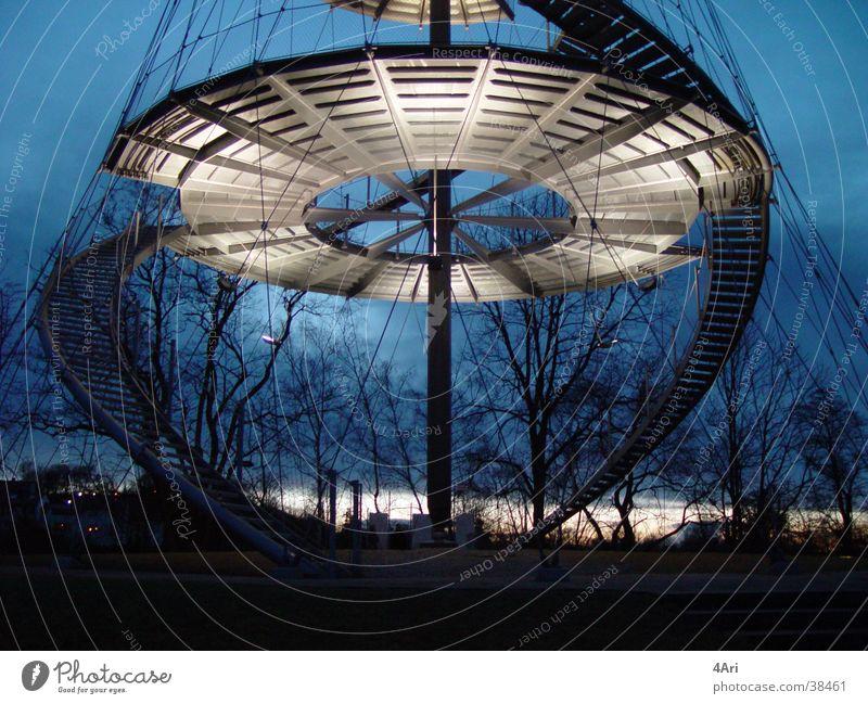 Architecture Stairs Modern Round Tower Climbing Ascending Stuttgart