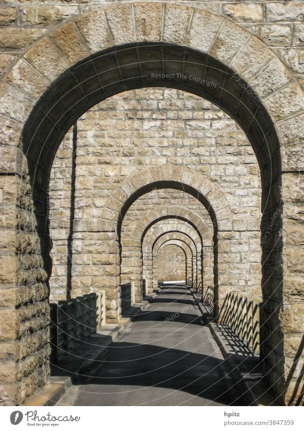 Bridge over the l'Ain in the Jura Manmade structures Architecture Exterior shot Colour photo Traffic infrastructure Stone