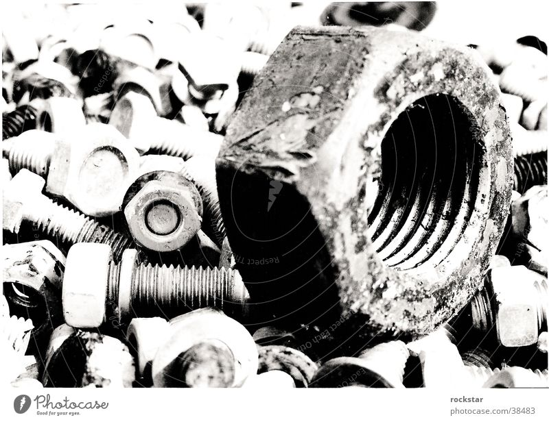Mother!!! Industry Contrast Detail Macro (Extreme close-up) Close-up large-small Black & white photo