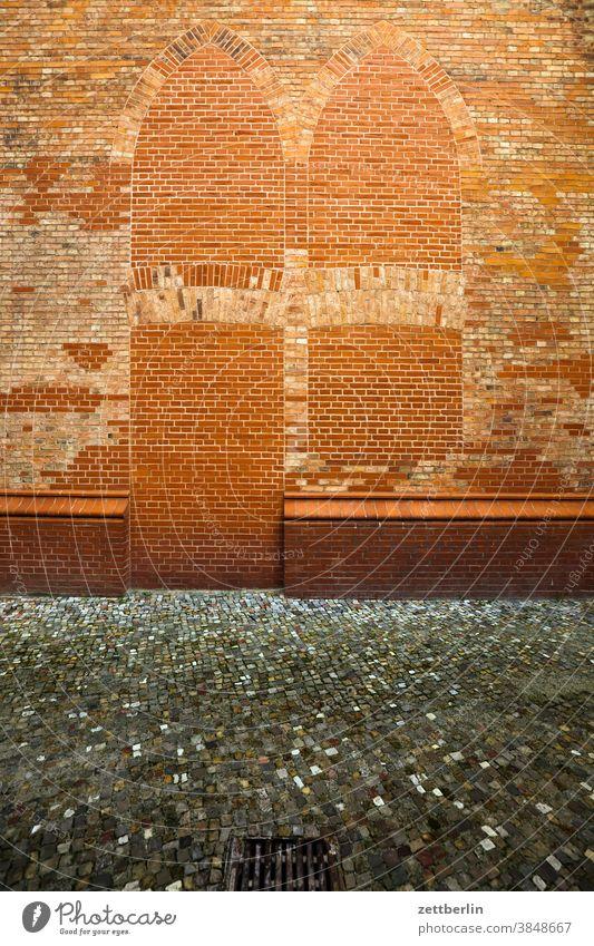 Friedrichwerdersche Kirche friedrichwerdersche church Church Wall (barrier) masonry Window door Goal bricked up Closed locked Brick Brick building construction