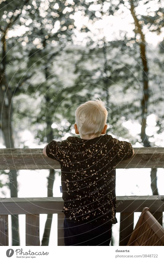 looking forward Child Boy (child) Toddler Summer 1 - 3 years Adventure Freedom Joy Exterior shot Positive Leisure and hobbies Life Mysterious Curiosity