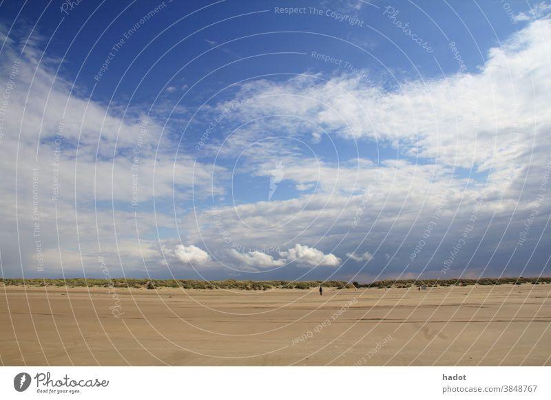 beach Beach blue clouds coast horizon loneliness sand sand beach sea sky space vacation