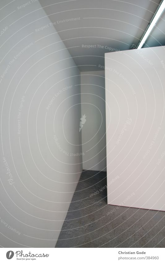 graphic / interspace Wall (barrier) Wall (building) White Gray Gray scale value Shadow Shadow play Light Neon light Ceiling Floor covering Graphic Abstract