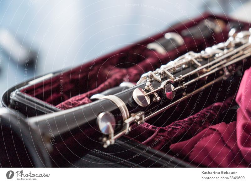 Clarinet on the case tool Dietz Music Musical instrument Detail Concert Musician Orchestra