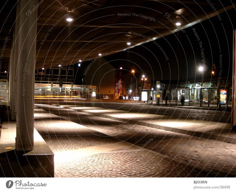 Play of light Visual spectacle Places Bus stop Dark Architecture forecourt Bright Station Train station