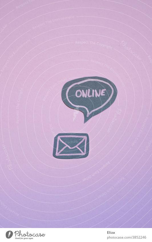 Envelope with speech bubble in the online. Envelope (Mail) Email digitization Newsletter Online Digital Modern communication Letter (Mail) message Internet