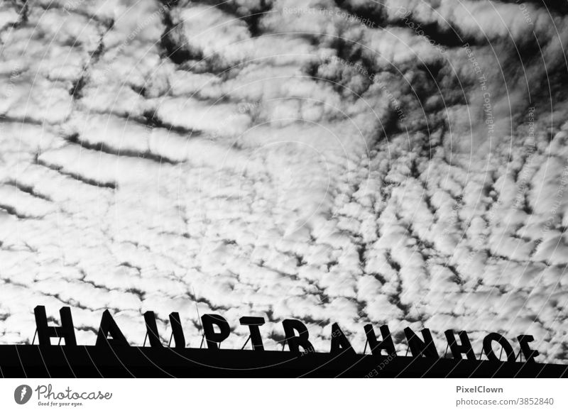 At Cologne Central Station Train station Architecture Town Railroad Light Transport Central station, sky, clouds