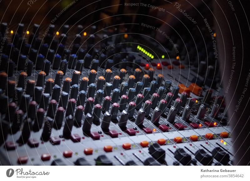 Mixing console in church service Michschpult Music Song Microphone Musician Concert Singer Sound Light Stage Karaoke Entertainment Event