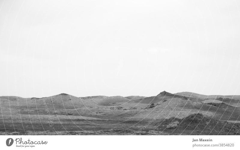 lunar landscape Iceland Moon Lava Landscape Black & white photo Hill mountains Meadow Abstract Nature Deserted Environment naturally Wild tranquillity Adventure