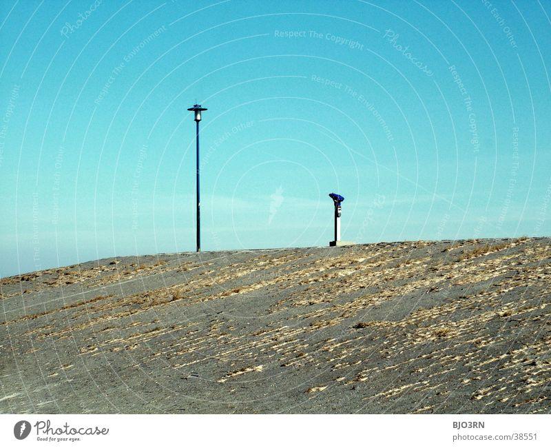 See the sea #12 - Beautiful view Lamp Binoculars Telescope Vending machine Dike Beach Light Lantern automatic TV set Sky Blue