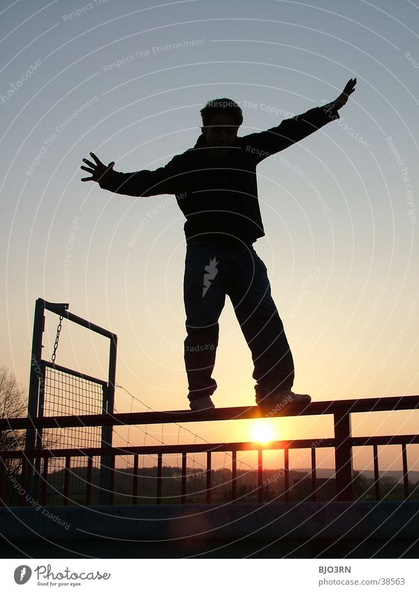 Human being Man Sky Black Contentment Door Guy Handrail Balance Fellow Wire fence