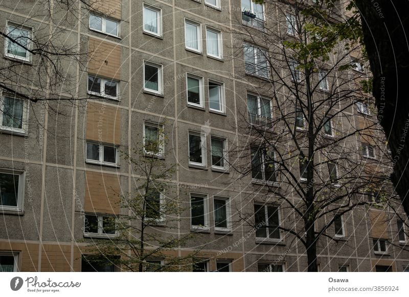 Residential house in large panel construction Building House (Residential Structure) Manmade structures Apartment Building apartment building