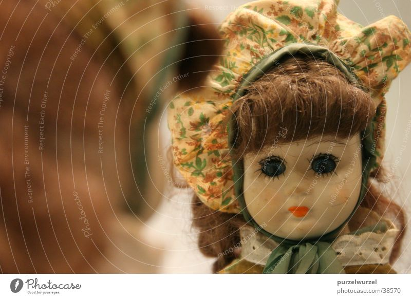 Old Mirror Crockery Obscure Doll