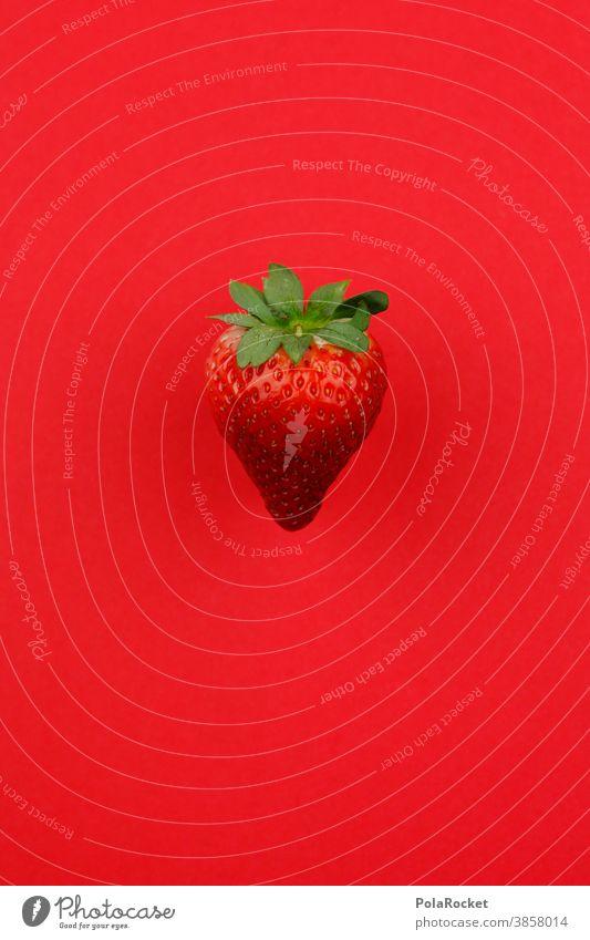 #A0# Erdbeere auf Rot erdbeere rot obst lecker snack ernte frisch gsund gesunde ernährung lokal Food Garten vegan Vitamin