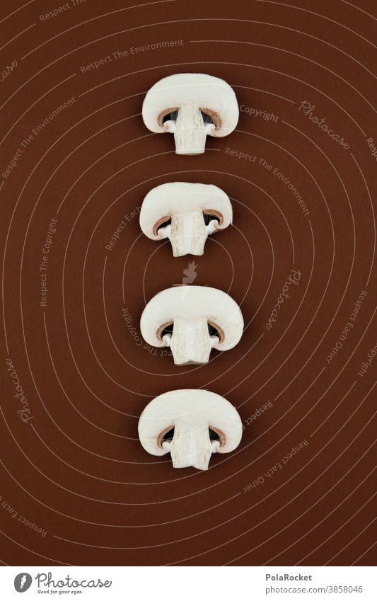 #A0# 4 Pilze für ... pilze champignons scheiben braun Wald pilzsuche Natur natur