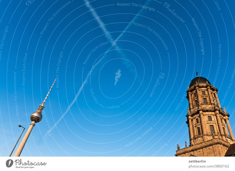 Television Tower and Berlin Town Hall at Molkenmarkt alex Alexanderplatz Architecture Office city Germany Television tower Worm's-eye view Capital city