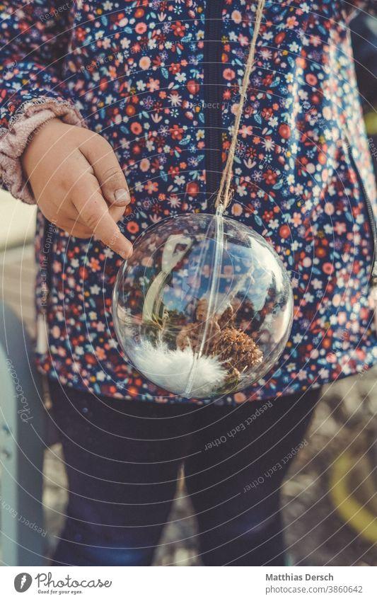 christmas decoration Christmas & Advent Christmas decoration Decoration embellish Winter Glitter Ball Fir branch Child Self-made