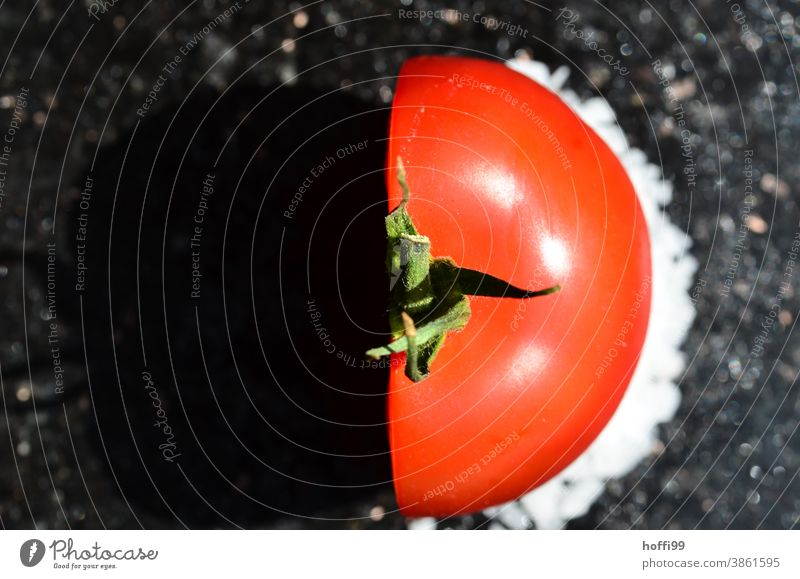 half tomato Tomato Vegetable Fresh Half-profile Red cutting surface broached Food Healthy Nutrition Minimalistic
