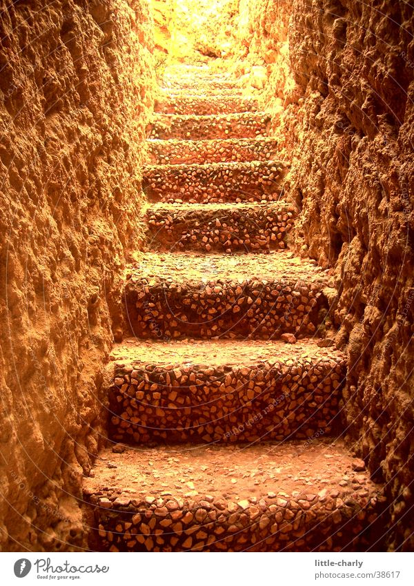 stone staircase Tunnel Light Stairs Stone Earth