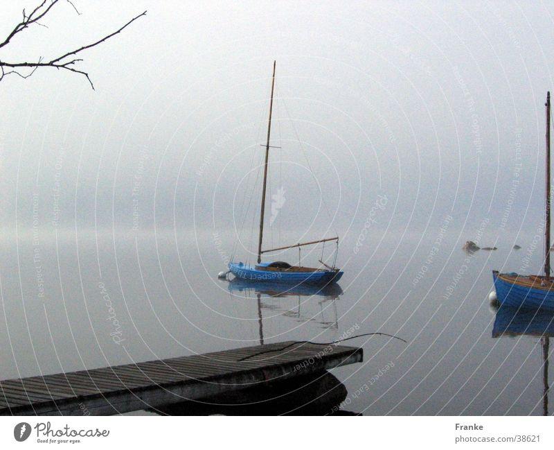 Water Calm Lake Watercraft Fog