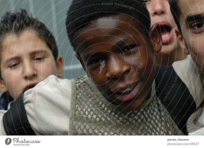 Human being Child Youth (Young adults) Black Dark Boy (child) Group Action Duesseldorf Muddled Clique Impatience Wrangling