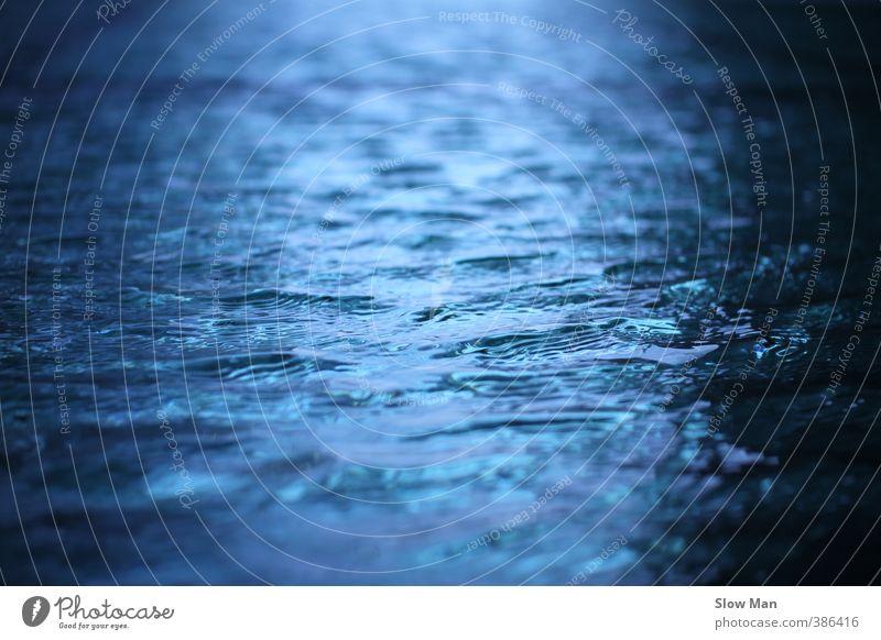 blue wonder - blue water Ocean Waves Pond Blue Freedom Rain Storm Deluge Colour photo Exterior shot Copy Space left Copy Space right Copy Space top