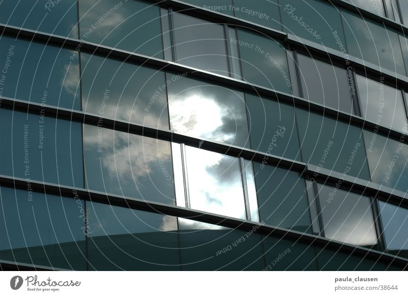 Clouds House (Residential Structure) Window Architecture Glass Harbour Duesseldorf Office building