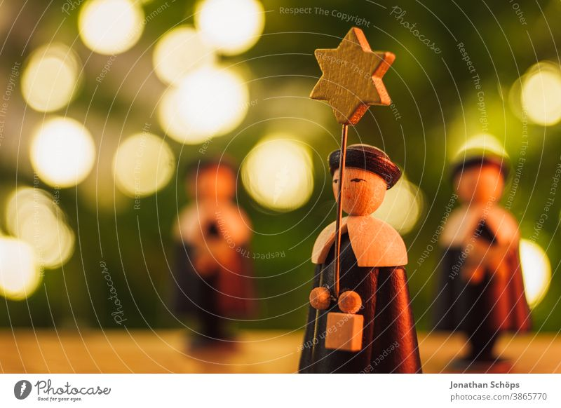 christmas star singers wooden figures closeup Bright Christianity Christmas Christmas & Advent Decoration Erzgebirge Faith Home Hope Singers Warmth X-mas advent