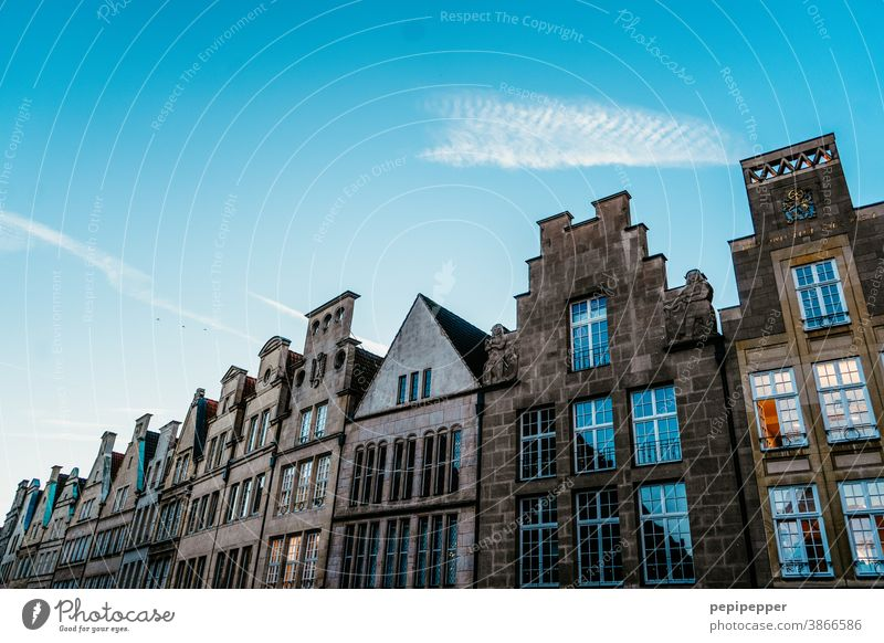 Old Town Cathedral muenster Architecture Building Old town Downtown Facade Window Exterior shot Old building Manmade structures Deserted Past