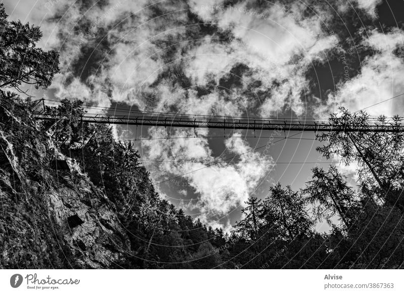 bridge in the sky courage over excursion environment nature travel outdoor icons goals path setting passage wooden way tourism crossing planks footpath trail