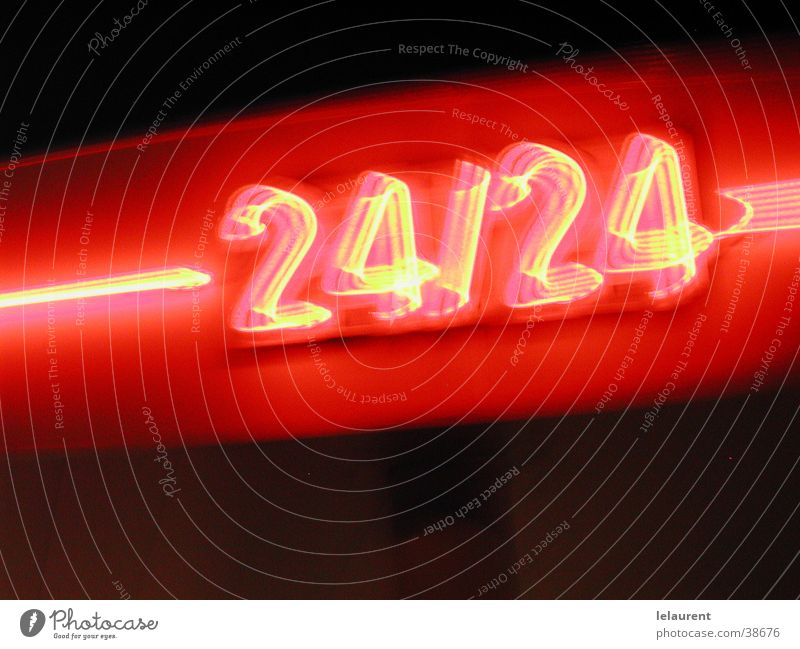 24 on 24 Night Speed Entertainment Light red number big plan