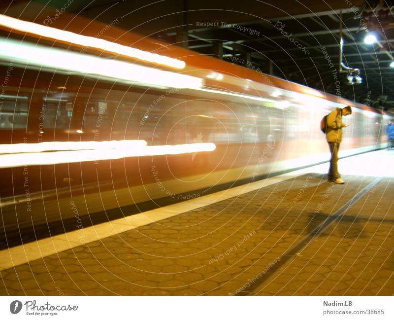 subway Commuter trains Transport Central station long time exposure Railroad Hamburg