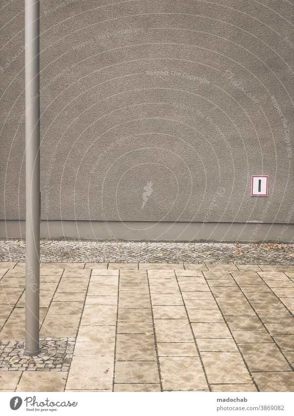 Geometry of tristesse Ground slabs Line structure Pattern stake dash urban Facade Empty Gloomy Surface Abstract Architecture Modern Wall (building) Building
