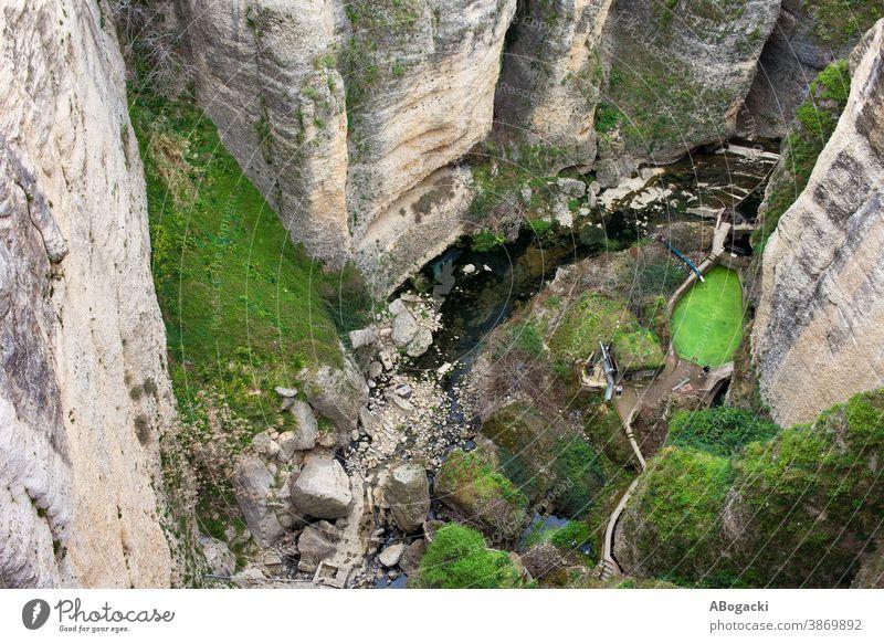 El Tayo River Gorge Landscape in Ronda, Spain gorge ronda cliff rock stream river andalusia andalucia spain nature mountain mountainous europe landmark high