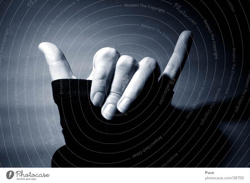 Hang Loose Hand Fingers Woman surfer salute